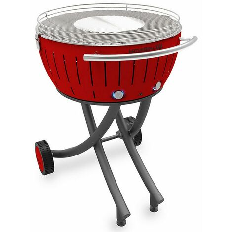 barbecue à charbon 60 cm rouge - lg-ro-600 - lotusgrill
