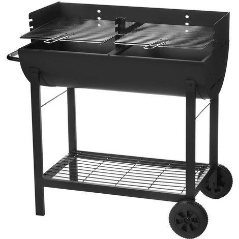 Barbecue à Charbon avec COUVERCLE ACIER 86 X 47 X 94 cm