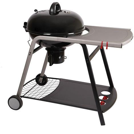 """main image of """"Barbecue à charbon avec tablette Pyla - Diam. 55 cm - Noir - 102 x 59 x 103 - Noir"""""""