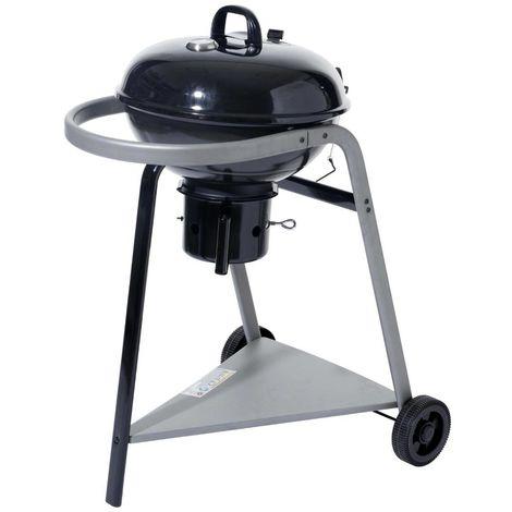 Barbecue a charbon avec tablette triangulaire - L. 82 x l. 58.5 x H. 103.5 cm -PEGANE-