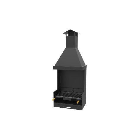 Barbecue à charbon de bois - à poser avec hotte - BV-13