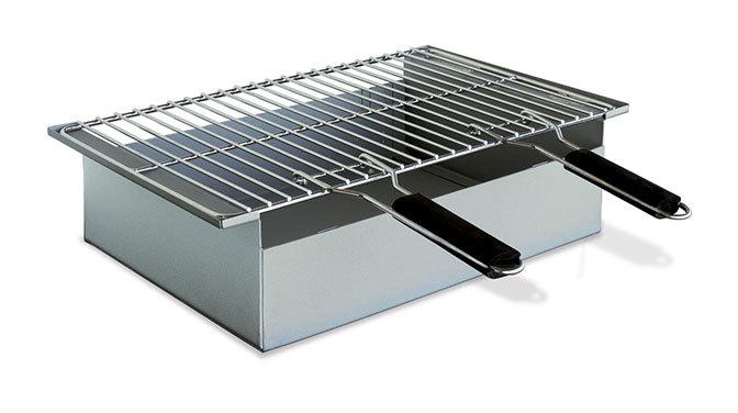 817a5f12cf800 Barbecue à charbon de bois à poser en acier Arles