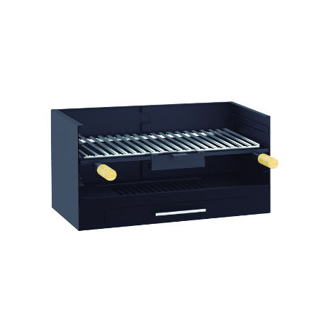 Barbecue à charbon de bois - à poser ou à encastrer avec grille inox - BV-10
