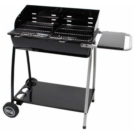 Barbecue à charbon de bois - cuve acier - forme tonneau - GIGA