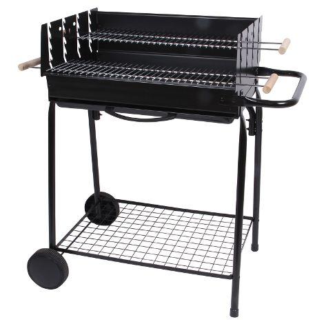 Barbecue à charbon de bois - cuve acier - sur chariot - VALPAREISO