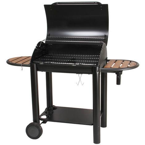 Barbecue à charbon de bois, grill, barbecue de jardin - Dim : 138 x 58 x 96 cm - Fabrication française -