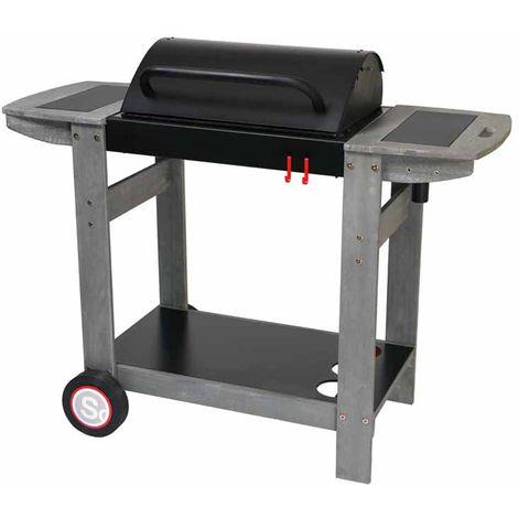 Barbecue à charbon de bois, grill, barbecue de jardin en acier - Dim : 121 x 56 x 98 cm - Fabrication française -