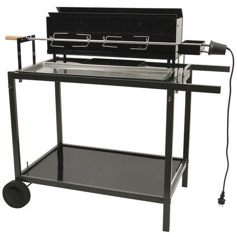 Barbecue à charbon de bois, grill, barbecue de jardin en acier - Dim : 121,5 x 68 x 115,5 cm