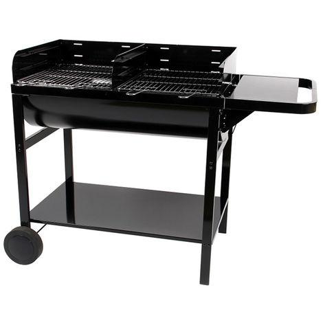 Barbecue à charbon de bois, grill, barbecue de jardin en acier - Dim : 128 x 62 x 92,5 cm