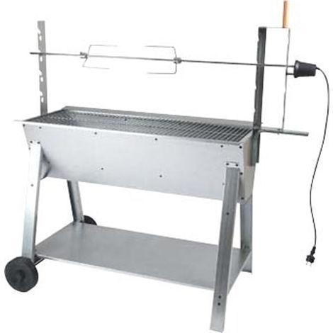 Barbecue à charbon de bois, grill, barbecue de jardin en acier - Dim : 133 x 66 x 126 cm