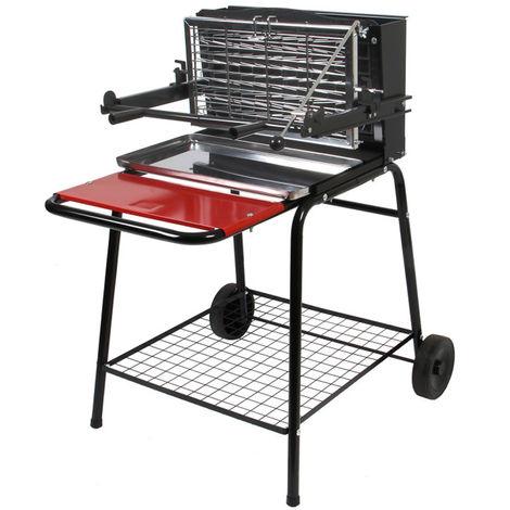 Barbecue à charbon de bois, grill, barbecue de jardin en acier - Dim : 71 x 86 x 100,5 cm - Fabrication française -