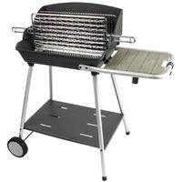 Barbecue à charbon de bois, grill, barbecue de jardin en acier - Dim : 99 x 58,5 x 96,5 cm - Fabrication française -