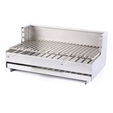 Barbecue à charbon de bois Original Vulcain 54*32 Inox LE MARQUIER Made in France