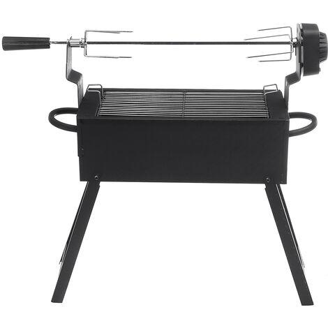 """main image of """"Barbecue à charbon de bois pliant électrique portable rotissoire moteur rotissoire poêle à kebab rotatif automatique"""""""