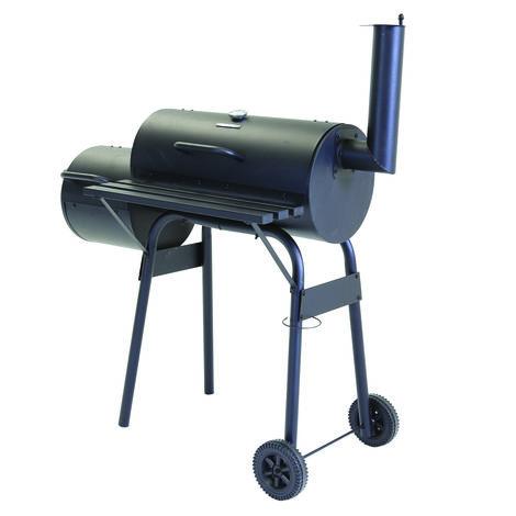 Barbecue à charbon moyen Charles avec fumoir décalé