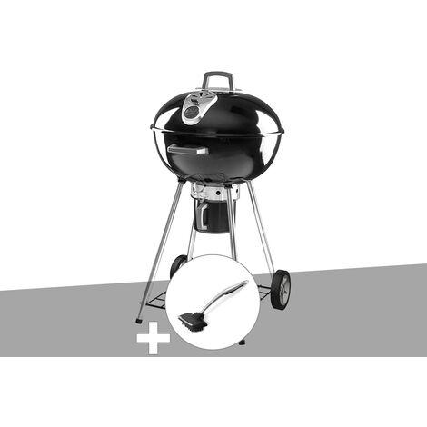 Barbecue à charbon Napoléon Rodéo 57 cm sur pied + Brosse pour grill