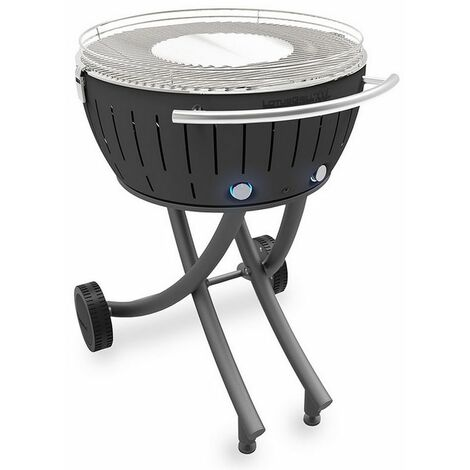 barbecue à charbon portable 60cm gris - lg-an-600 - lotusgrill