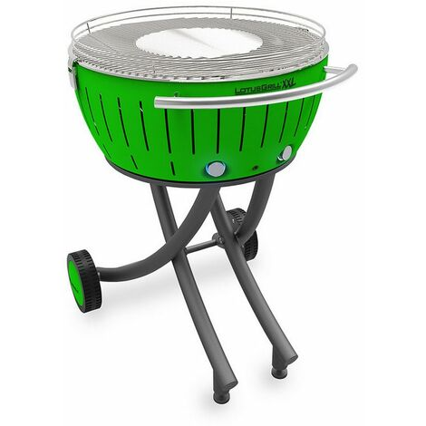 barbecue à charbon portable 60cm vert - lg-gr-600 - lotusgrill