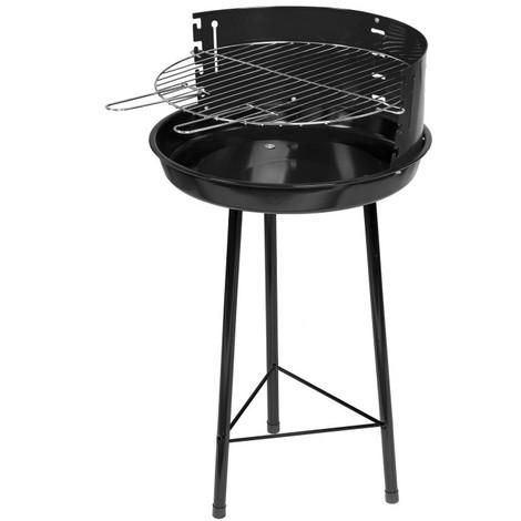 Barbecue à charbon rond noir - L 45 x l 45 x H 74