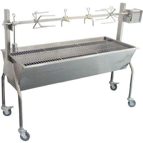 barbecue à charbon + rôtissoire - tkg grb1001 - kalorik