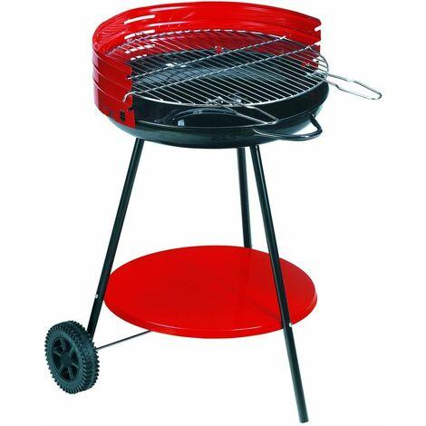Barbecue à charbon sur roulettes Camping Surface cuisson 50cm