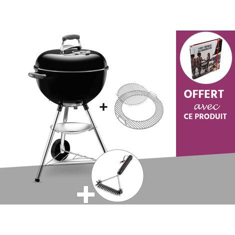 Barbecue à charbon Weber Bar-B-Kettle GBS 47 cm Noir + Brosse + Livre OFFERT