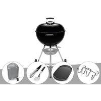 Barbecue à charbon Weber Original Kettle 57 cm + Housse + Kit Ustensile + Plancha + Support Accessoires