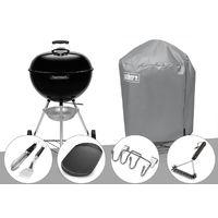 Barbecue à charbon Weber Original Kettle 57 cm + Housse + Kit Ustensile + Plancha + Support Accessoires + Brosse