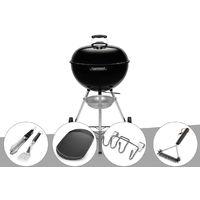 Barbecue à charbon Weber Original Kettle 57 cm + Kit Ustensile + Plancha + Support Accessoires + Brosse