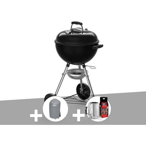 Barbecue à charbon Weber Original Kettle E-4710 47 cm + Housse + Kit Cheminée