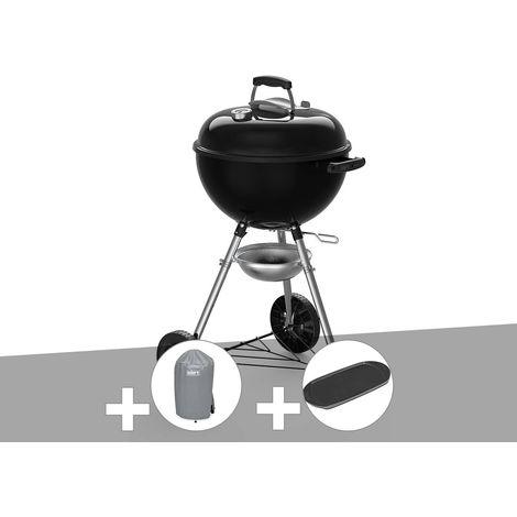 Barbecue à charbon Weber Original Kettle E-4710 47 cm + Housse + Plancha