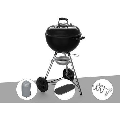Barbecue à charbon Weber Original Kettle E-4710 47 cm + Housse + Plancha + Support Accessoires