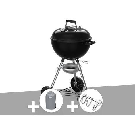 Barbecue à charbon Weber Original Kettle E-4710 47 cm + Housse + Support Accessoires