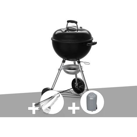 Barbecue à charbon Weber Original Kettle E-4710 47 cm + Kit Ustensiles + Housse