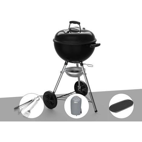 Barbecue à charbon Weber Original Kettle E-4710 47 cm + Kit Ustensiles + Housse + Plancha