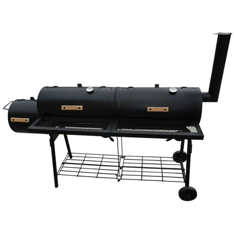 vidaXL Barbecue américain Smoker fumoir double compartiment