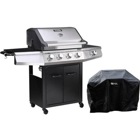 Barbecue a gas Bingo 5 - 5 piastre di cui 1 laterale - 15.2kW + Fodera di protezione