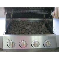 Barbecue A Gas Gpl E Metano 4 Fuochi Turrer Roasted Plus Inox Con Pietra Lavica