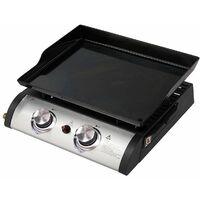Barbecue a gas portatile da appoggio con doppi fuochi