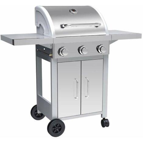Barbecue à gaz 3 brûleurs inox Silver Style
