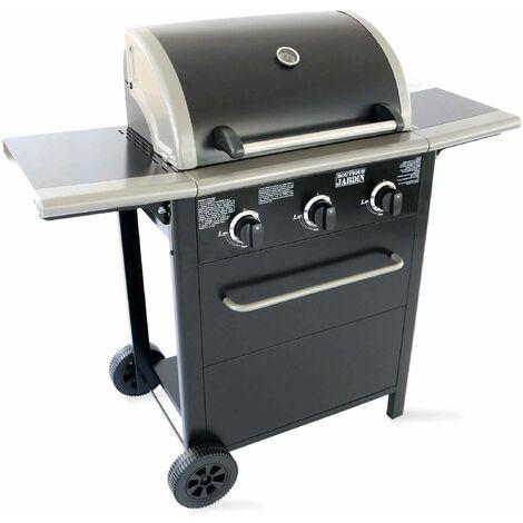 Barbecue à gaz 3 brûleurs - Noir