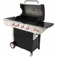 Barbecue à gaz avec plancha et grill Inox 150 x 57,5 x 115,5 cm