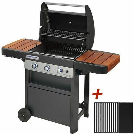 Barbecue à gaz Campingaz 3 Series Classic Woody + plaque plancha