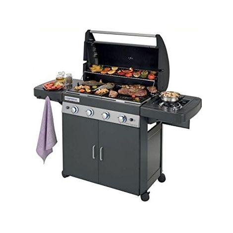 Barbecue à gaz Campingaz 4 Series CLASSIC LS Dark avec four, assiette, culinaire modulaire