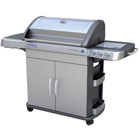 Barbecue à gaz Campingaz 4 séries RBS LXS avec four, plaque chauffante, grille modulaire culinaire