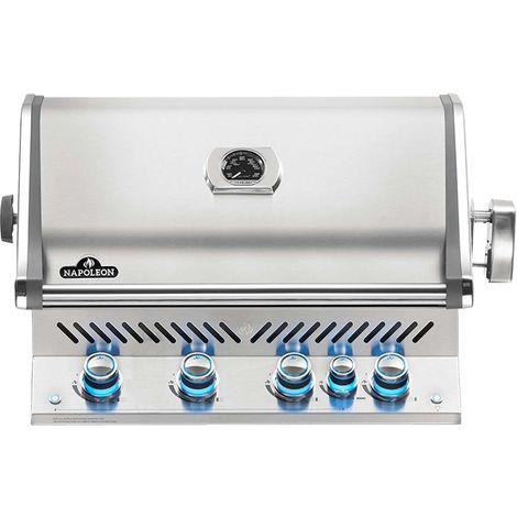 Barbecue à gaz encastrable Napoleon Prestige Pro 3 brûleurs + Sizzle Zone + brûleur arrière