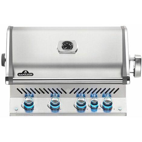 Barbecue à gaz encastrable Napoleon Prestige Pro 500 inox 3 brûleurs + Sizzle Zone + brûleur arrière