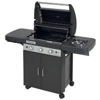Barbecue a gaz grill et plancha CAMPINGAZ LS DARK 3 Classic bruleurs inox allumage piezo fonte à©maillà©e HOUSSE OFFERTE