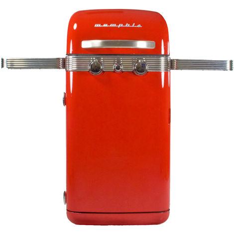 Barbecue à gaz Memphis SAHARA 4500W 2 brûleurs Grille fonte Connectique gaz incluse Modèle Vintage