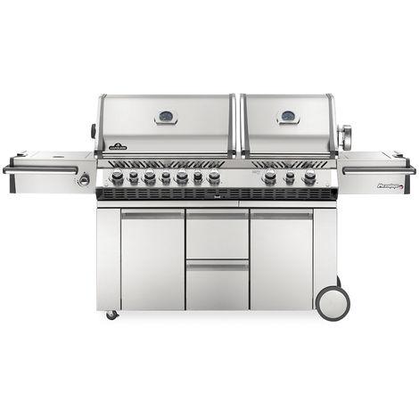 Barbecue à gaz Napoleon Prestige Pro 4 brûleurs + 2 Sizzle Zone + brûleur arrière + fumoir